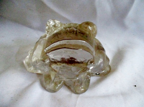 PUKEBERG SWEDEN Glass FROG TOAD Paperweight Figurine Collectible CUTE!