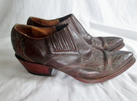 Womens LEDDY VAQUERO 2539 Western Cowboy Cutout Ankle BOOTS Shoes 8 BROWN
