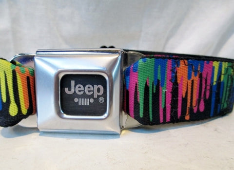 BUCKLE DOWN SKATE GOODS Adjustable Belt JEEP PAINT DRIP OS One Size