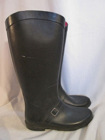 Womens Ladies CAPELLI Wellies Rain Duck Boots Gumboots Shoes BLACK 7 Puddle Jumpers
