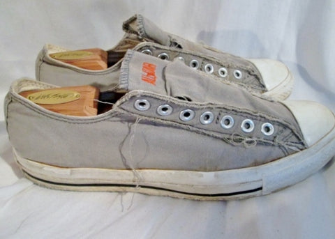 CONVERSE ALL STAR LOWRISE Sneaker Trainer CHUCKS Athletic Shoe 9.5 GRAY