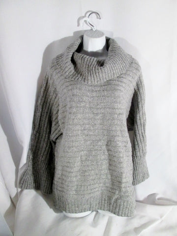 NEW NWT Womens JONES NEW YORK SIGNATURE Cowl Neck Sweater Pullover GRAY XL Top