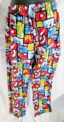 Boys Youth MARVEL AVENGERS Pajama Flannel PANTS Comic Superhero L TEEN Fashion