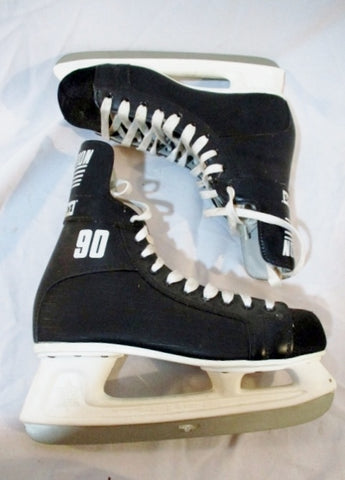 Mens CCM CHAMPION 90 Ice Hockey Figure Skates 9 BLACK Sport Winter