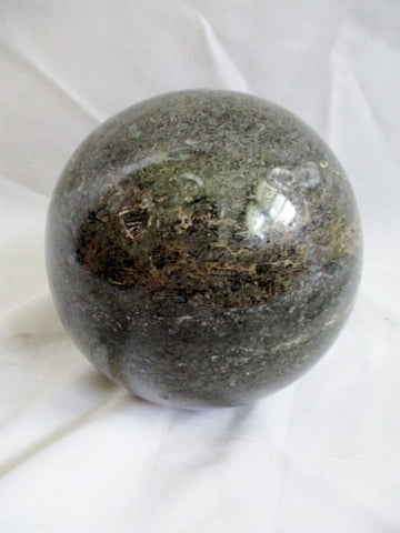 "5"" GRANITE AGATE MARBLE GRAY Polished STONE ROCK Paperweight Ball HEAVY"