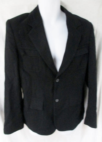MENS CASHMERE CLASSICS Wool Button Up JACKET Sport Coat BLAZER Black 42 M