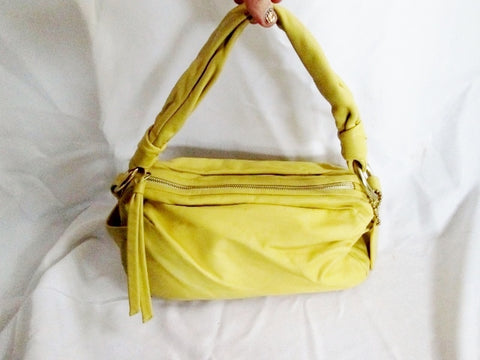 COACH 13442 PARKER SMOOTH YELLOW Hobo Handbag Satchel Leather Shoulder Bag