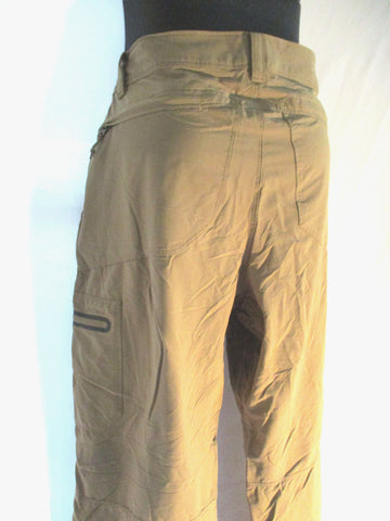 LL BEAN Nylon Pants Trousers 32X32 BEIGE Khaki Convertible Shorts Mens Packable Hiking Camping