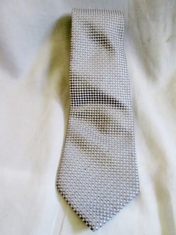 DONALD J. TRUMP SIGNATURE COLLECTION 100% Silk NECK TIE Necktie Handmade SILVER PRESIDENT