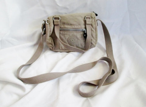 KIPLING mini tote hobo satchel shoulder crossbody bag BEIGE TAN MONKEY