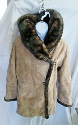 Womens LNR LA NOUVELLE RENAISSANCE FUR SHEARLING SUEDE coat BROWN S  jacket