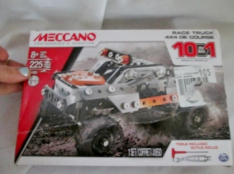 MECCANO 17203 Erector 10 in 1 Model Race Truck Building Set Toy Kids Construction Fun