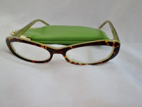 KATE SPADE KITTY Eyeglasses Eye Glass HY15 51 16 Brown Tortoise Shell WINK WINK GREEN