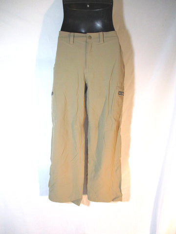 Mens LL BEAN Nylon Pants Trousers 32 X 30 BEIGE Convertible Shorts Packable Hiking Camping