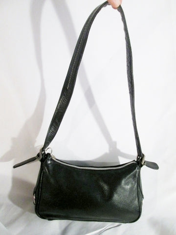 47 MAPLE Leather Handbag Hobo Shoulder Purse Boho Bag BLACK S Hippie Keyring