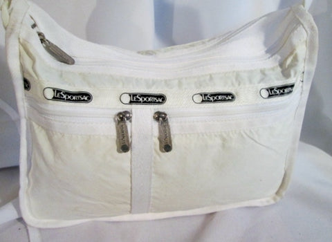 Le Sport Sac LESPORTSAC shoulder bag purse crossbody messenger CREME WHITE ECRU  Vegan