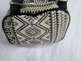 Aztec Mexican Style Rucksack Daytripper BACKPACK BAG WHITE BLACK Blanket
