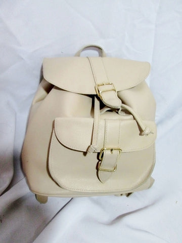 FOREVER 21 Vegan BACKPACK RUCKSACK BAG Pockets ECRU CREME BEIGE