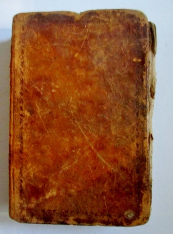 Antique 1812 New Testament of Our Lord and Saviour Jesus Christ Leather Book BROWN Bible