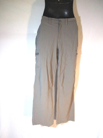 LL BEAN Nylon Pants Trousers 32X32 GREEN GRAY Convertible Shorts Mens Packable Hiking Camping