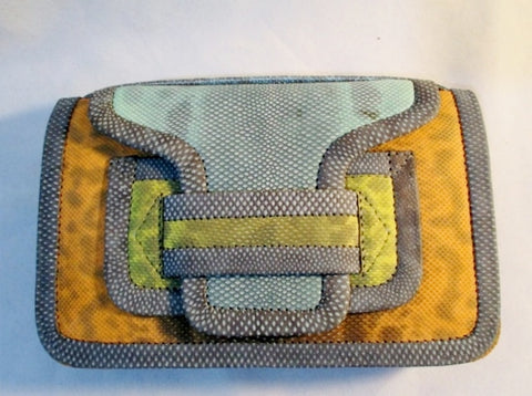 NWT NEW PIERRE HARDY ALPHA SAC Clutch Shoulder Purse Bag SNAKE MULTI