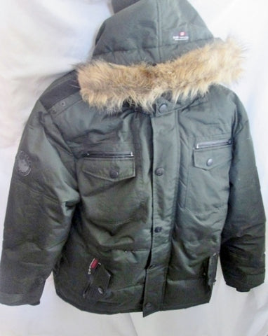 Mens CANADA WEATHERGEAR SUPER TRIPLE GOOSE DOWN JACKET Coat Puffer Winter XL GREEN BLACK