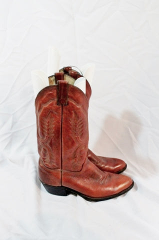 ABILENE USA Made Western Cowboy Leather Boot 9 BROWN PEANUT BRITTLE