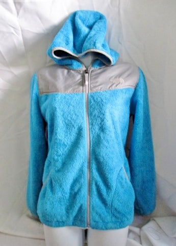 Youth Girls THE NORTH FACE Fleece JACKET Coat BLUE XL 16-18 Hoodie FULL ZIP