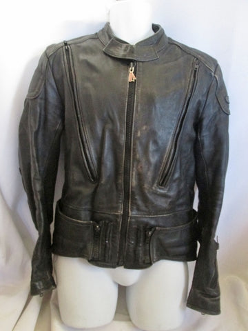 MENS HEIN GERICKE ECHT LEDER Leather moto jacket coat BLACK 44 XL riding biker