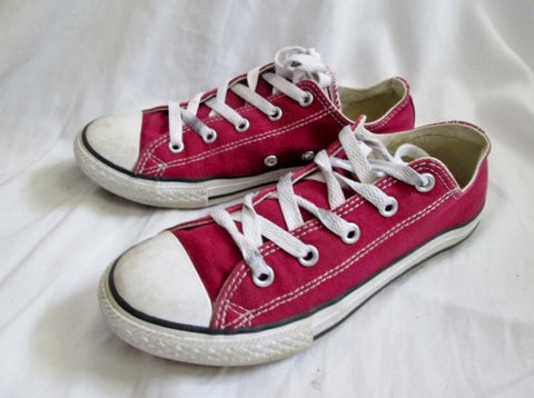 CONVERSE ALL STAR LOWRISE Sneaker Trainer RED 3 CHUCKS Athletic Sports Shoe Kids