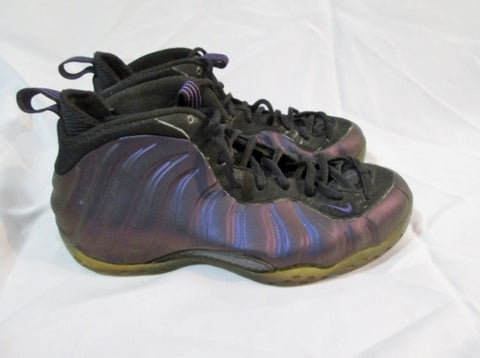 Mens NIKE AIR FOAMPOSITE ONE Sneaker 314996-051 Hi-Top Basketball 10 PURPLE BLACK