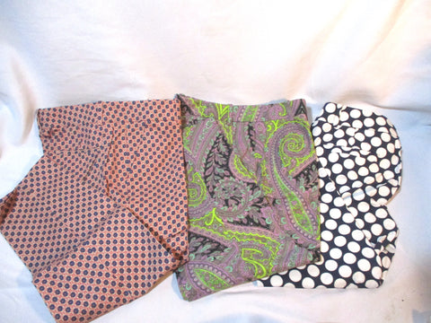 Set J. CREW Cafe Capri Cropped Pants 4 4P Polka Dot Paisley Floral