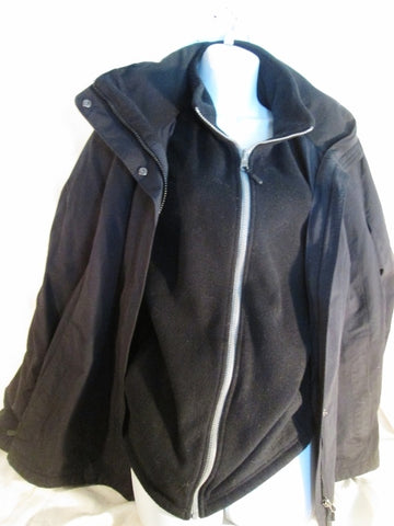 Womens 2 in 1 L.L. BEAN Ski JACKET Coat Winter Snow Parka Fleece BLACK XL SQUALL Misses