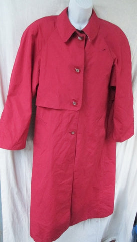 Womens MARKETTE by SHIFF TRENCH COAT Jacket Outerwear CHERRY RED 3/4 M