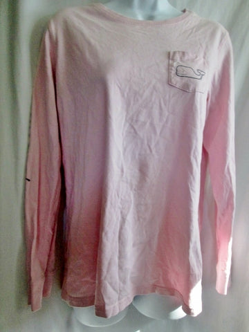 Womens VINEYARD VINES Long Sleeve T- Tee Shirt S PINK Whale Preppie