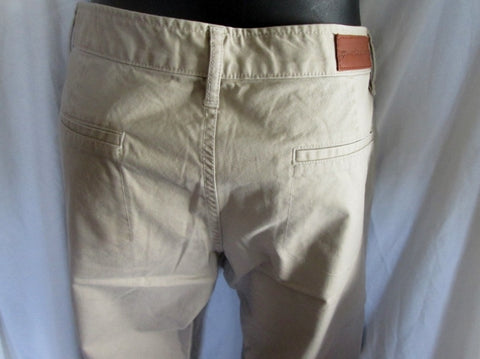 NEW WOMENS GROWN & SEWN USA Pants 27 X 29 KHAKI INDIE BOYFRIEND