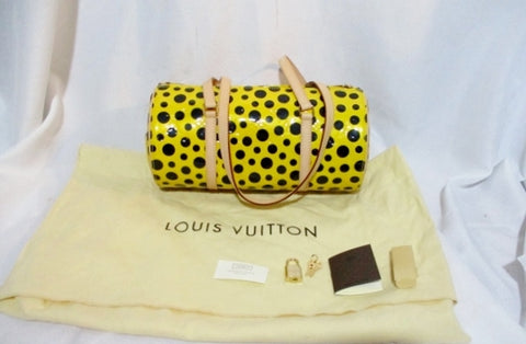 NEW LOUIS VUITTON PAPILLON SHOULDER BAG INFINITY DOTS KUSAMA YELLOW YAYOI