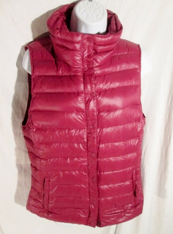 Womens Ladies GAP Lightweight DOWN Puffer Winter Vest Coat Jacket PLUM PURPLE M