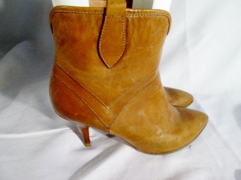 Womens MAISON MARTIN MARGIELA Stiletto Heel Booties Ankle Boot 8.5 BROWN 40