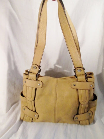 NEW TIGNANELLO leather hobo satchel tote shoulder bucket bag tote BEIGE TAN pebbled