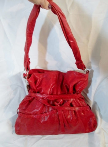 SOPHEEA COLOMBIA Belt LEATHER Hobo Shoulder Bag Purse RED Sling