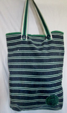 AMERICAN EAGLE OUTFITTERS AEO Stripe TOTE Bag NAUTICAL BLUE GREEN Vegan