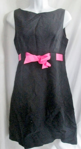 NEW NWT Womens STEVEN STOLMAN RIBBON FAILLE Mini Dress Sz 4 BLACK $275 Pink