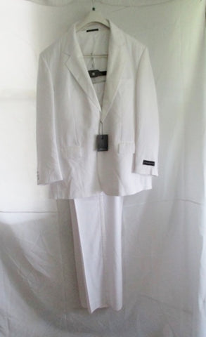 NEW VITTORIO ST. ANGELO Tuxedo Sport Jacket Suit Pant WHITE 46R 40W Formal Wedding NWT Mens