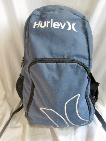 HURLEY Canvas Vegan BACKPACK Shoulder Rucksack Travel BAG BLUE WHITE Vegan