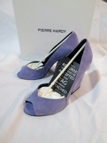 NEW NWT PIERRE HARDY CALF NUBUCK LEATHER Pump Shoe 36 6 LAVENDER Womens NIB