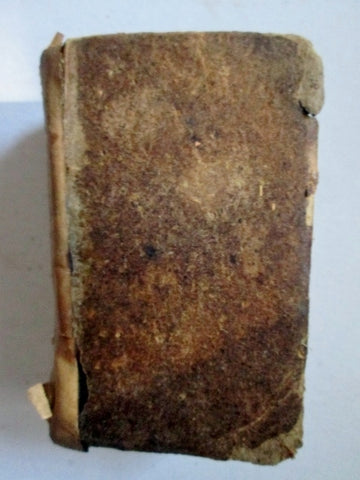 Antique 1831 Psalms of David New Testament Old Book BROWN Mini Bible Leather