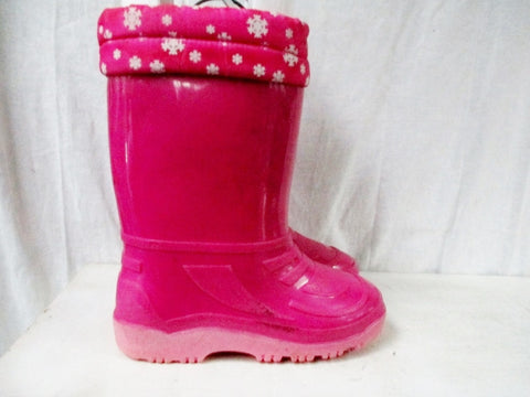 Girls Kids ESPRIT Insulated Waterproof Rain Snow Storm Boots Winter PINK 3