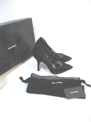 NEW NWT DOLCE & GABBANA BELLUCCI LACE High Heel Stiletto Pump Shoe 36 BLACK
