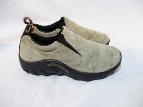 Kids Youth Boys MERRELL JUNGLE MOC Suede Leather Slip on Shoe 3 TAUPE